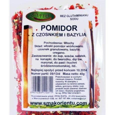 Pomidor z czosnkiem i bazylią