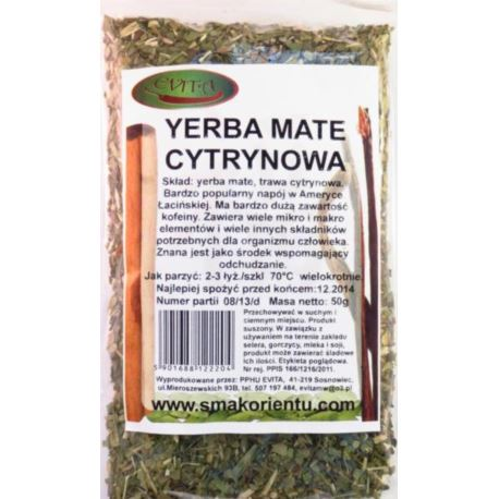 Yerba mate cytrynowa